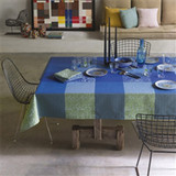 Le Jacquard Francais Fleurs De Kyoto Indigo Coated Tablecloth 59 X 86 Inch MPN: 23427 EAN: 3660269234270