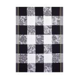 Le Jacquard Francais Estampe Chinoise Grey Tea Towel 24 X 31 Inch MPN: 23482 EAN: 3660269234829