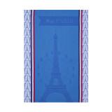 Le Jacquard Francais Mon Paris Blue Tea Towel 28 X 20 Inch MPN: 23543 EAN: 3660269235437