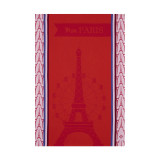 Le Jacquard Francais Mon Paris Red Tea Towel 28 X 20 Inch MPN: 23544 EAN: 3660269235444