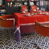 Le Jacquard Francais Palace Red Tablecloth 69 X 126 Inch MPN: 23567 EAN: 3660269235673