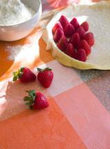 Le Jacquard Francais Marie Galante Mango Coated Tablecloth 69 X 126 Inch MPN: 24150 EAN: 3660269241506