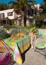 Le Jacquard Francais Marie Galante Lemon Coated Tablecloth 59 X 59 Inch MPN: 24158 EAN: 3660269241582