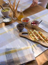Le Jacquard Francais Marie Galante Coconut Coated Tablecloth 59 X 59 Inch MPN: 24160 EAN: 3660269241605