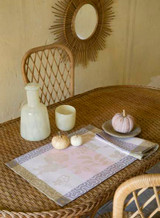Le Jacquard Francais Asia Mood Almond Tablecloth 69 X 69 Inch MPN: 24211 EAN: 3660269242114