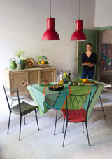 Le Jacquard Francais Wax Mania Enduit Pistachio Coated Tablecloth 59 X 59 Inch MPN: 24264 EAN: 3660269242640