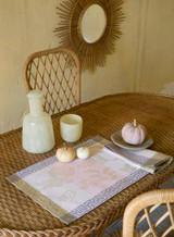 Le Jacquard Francais Asia Mood Almond Tablecloth 86 X 86 Inch MPN: 24410 EAN: 3660269244101