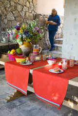Le Jacquard Francais Boheme Poppy Tablecloth 69 X 126 Inch MPN: 24421 EAN: 3660269244217