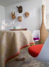 Le Jacquard Francais Boheme Hemp Tablecloth 59 X 59 Inch MPN: 24426 EAN: 3660269244262