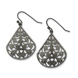 1929 Boutique Jewelry Fashion Black-plated Filigree Dangle Earrings BF1012