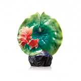 Franz Porcelain Goldfish & Lotus Leaf Vase, MPN: FZ03647, UPC: 817714015776
