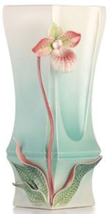 Franz Porcelain Lady's Slipper Orchid Vase, MPN: FZ03141, UPC: 817714014557