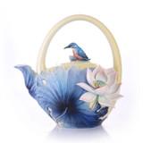 Franz Porcelain Lotus & Kingfisher Teapot, MPN: FZ03483, UPC: 817714014724