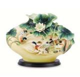 Franz Porcelain Teal Lotus Vase Limited Edition, MPN: FZ03682
