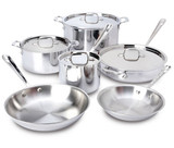 All Clad d3 Stainless 10-Piece Set Cookware Set MPN: 401877R UPC: 11644502775