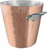 Mauviel M'30 Hammered Copper Champagne Bucket 8 Inch Wide MPN: 2709.03 EAN: 3574902709035