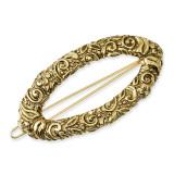 1977 Boutique Jewelry Fashion Barrette Gold-tone BF1640