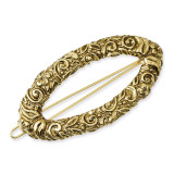 1977 Boutique Jewelry Fashion Barrette Gold-tone BF1640