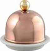 Mauviel M'30 Barware Porcelain Butter Dish with Copper Lid MPN: 4260.03 EAN: 3574904260039