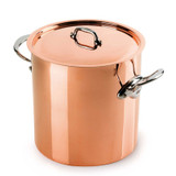 Mauviel M150S Stockpot with Copper Lid 24cm 9.5 Inch 11.7 Qt. *Tin Lined* MPN: 6132.25 EAN: 3574906132259