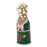 By Jere Champagne Bottle Trinket Box Enamel on Pewter, MPN:  BJ2020, UPC: 191101594625