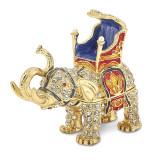 By Jere Majestic Elephant Trinket Box Enamel on Pewter, MPN:  BJ2031, UPC: 191101594700
