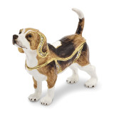 By Jere Beagle Trinket Box Enamel on Pewter, MPN:  BJ2033, UPC: 191101594724