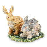 By Jere Best Bunnies Trinket Box Enamel on Pewter, MPN:  BJ2038, UPC: 191101594779