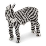 By Jere Full Crystal Zebra Trinket Box Enamel on Pewter, MPN:  BJ2041, UPC: 191101594809