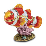 By Jere Clown Fish Trinket Box Enamel on Pewter, MPN:  BJ2050, UPC: 191101594885