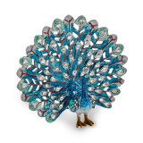 By Jere Blue Peacock Trinket Box Enamel on Pewter, MPN:  BJ2055, UPC: 191101594946