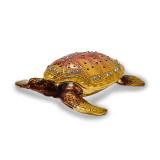 By Jere Loggerhead Turtle Trinket Box Enamel on Pewter, MPN:  BJ2068, UPC: 191101595066