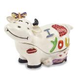 By Jere I Love You Cow Trinket Box Enamel on Pewter, MPN:  BJ2075, UPC: 191101595134