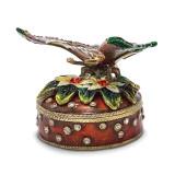 By Jere Butterfly Flowers Trinket Box Enamel on Pewter, MPN:  BJ2080, UPC: 191101595165