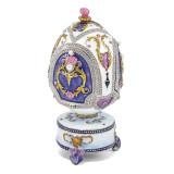 By Jere Carousel Horse Musical Egg Enamel on Pewter, MPN:  BJ2105, UPC: 191101595295