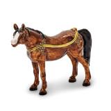 By Jere Brown Horse Trinket Box Enamel on Pewter, MPN:  BJ2121, UPC: 191101595370