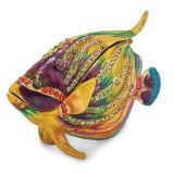 By Jere Kaleidoscope Fish Trinket Box Enamel on Pewter, MPN:  BJ2122, UPC: 191101595387