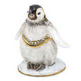 By Jere Baby Penguin Trinket Box Enamel on Pewter, MPN:  BJ2153, UPC: 191101595516