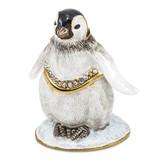 By Jere Baby Penguin Trinket Box Enamel on Pewter, MPN:  BJ2153, UPC: 191101595516