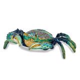 By Jere Blue Crab Trinket Box Enamel on Pewter, MPN:  BJ2242, UPC: 191101595677
