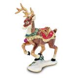 By Jere Christmas Reindeer Trinket Box Enamel on Pewter, MPN:  BJ3088, UPC: 191101037108