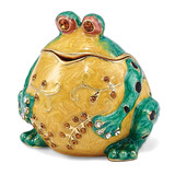 By Jere Bubba the Bullfrog Trinket Box Enamel on Pewter, MPN:  BJ3096, UPC: 191101037115