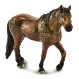 By Jere Crystal Enameled Brown Horse Trinket Box Enamel on Pewter, MPN:  BJ4005, UPC: