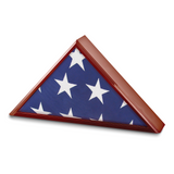 By Jere Cherry Matte Finish Poplar Veneer Glass Top Flag Collectors Box, MPN:  JFB997-C, UPC: