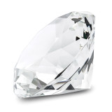By Jere Clear White Glass Gemstone Paperweight Award, MPN:  JGP512W, UPC: