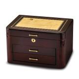 By Jere Burgundy Bubinga Wood Veneer with 2 Drawers Jewelry Box, MPN:  JJB269, UPC: 191101682032