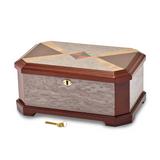 By Jere Cat Eye Burl Blue Red Inlay High Gloss Jewelry Box, MPN:  JJB623, UPC: