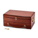 By Jere Cherry Matte Finish Bubinga Veneer 1-drawer Jewelry Chest, MPN:  JJB845, UPC:
