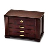 By Jere Matte Rosewood Burlwood Finish Locking Jewelry Box, MPN:  JJB875, UPC: