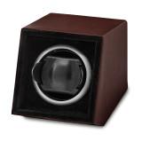 By Jere Brown Faux Leather Acrylic Window Single Watch Winder, MPN:  JWW711-BRL, UPC: 191101679780